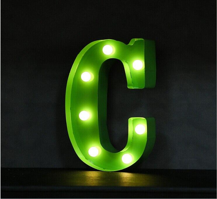 boa qualidade letras letreiro de led sinal de luz para cima do vintage alfabeto letras de