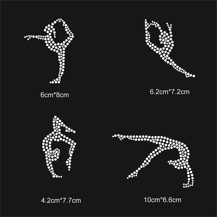 9bbd5832 Gymnastic girl bling bling rhinestone design for custom sportswear free  shipping