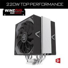 ALSEYE, ventilador de la CPU con 4 Heatpipes, abanico dual de 4pin PWM 120m m Ventilador del disipador de calor de TDP 220W para LGA 2011/1366/775 / 115X / AM2 + / AM3 +