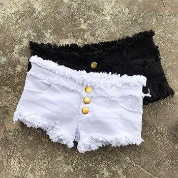 1pcs Womens Sexy super denim shorts 2019 Summer denim cotton small pocket shorts Ladies Skinny Sexy club super short jeans Girls 6