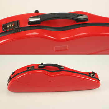 Red 4/4 Violin Case Compound material, Strong Hard Case,with coded lock