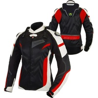 Free shipping 1pcs Summer Spring Women Motorbike Mesh Breathable Motocross Clothing Motorcycle Jacket With 5pcs pads