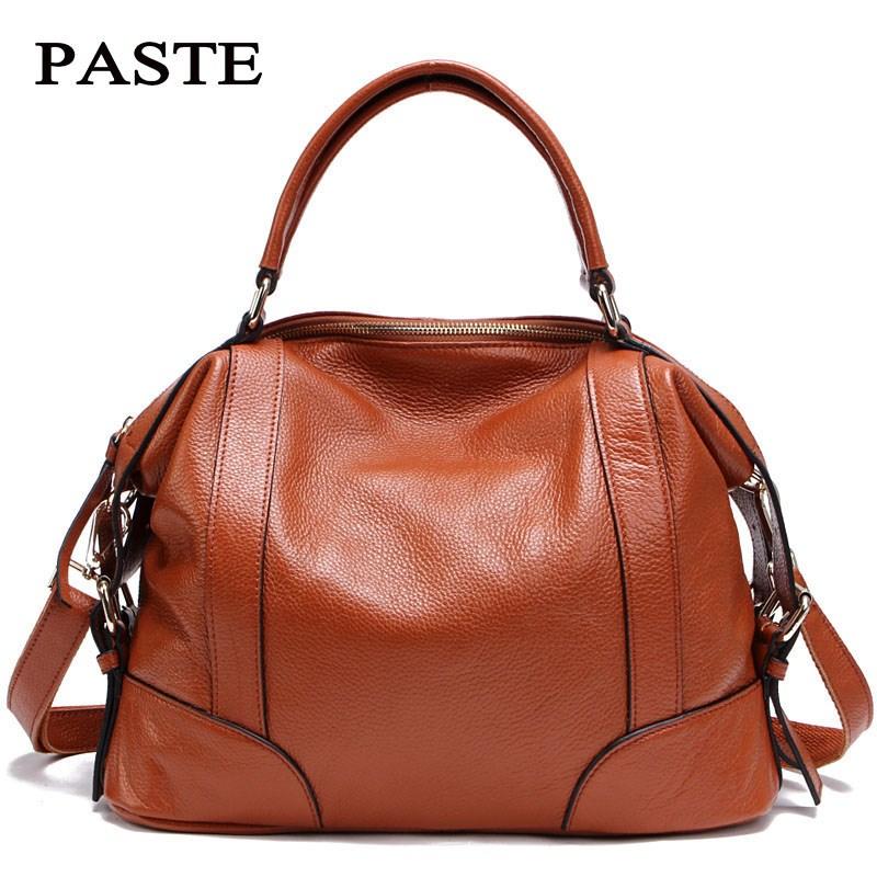 PASTE Orginal Brand designer Genuine leather women handbags Classic Super wear-resistant cow leather shoulder messenger bags 247 classic leather