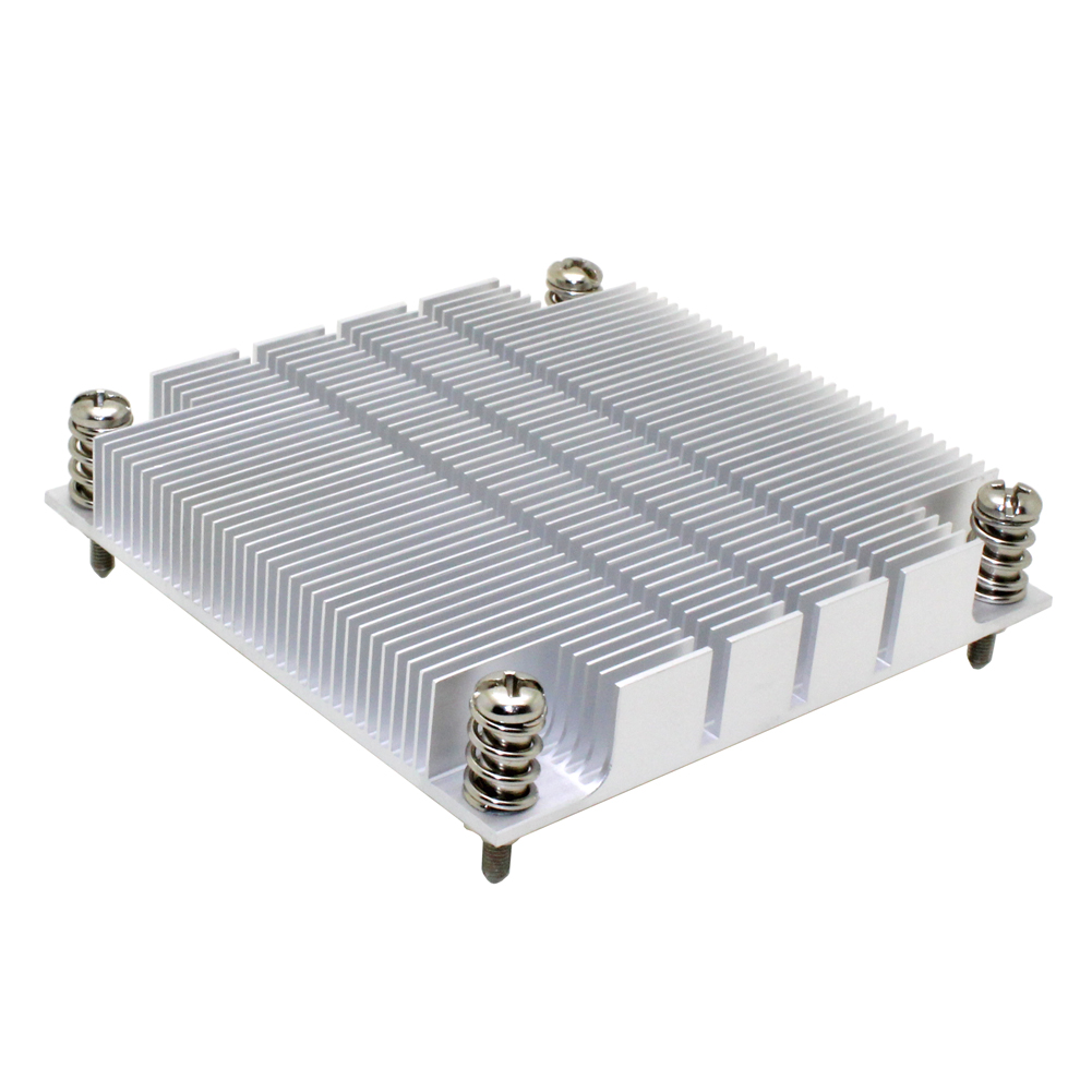 1U Server CPU Cooler Aluminum Heatsink Radiator For <font><b>Intel</b></font> 1150 1155 1156 I3 I5 <font><b>I7</b></font> Workstation Industrial Passive Cooling image