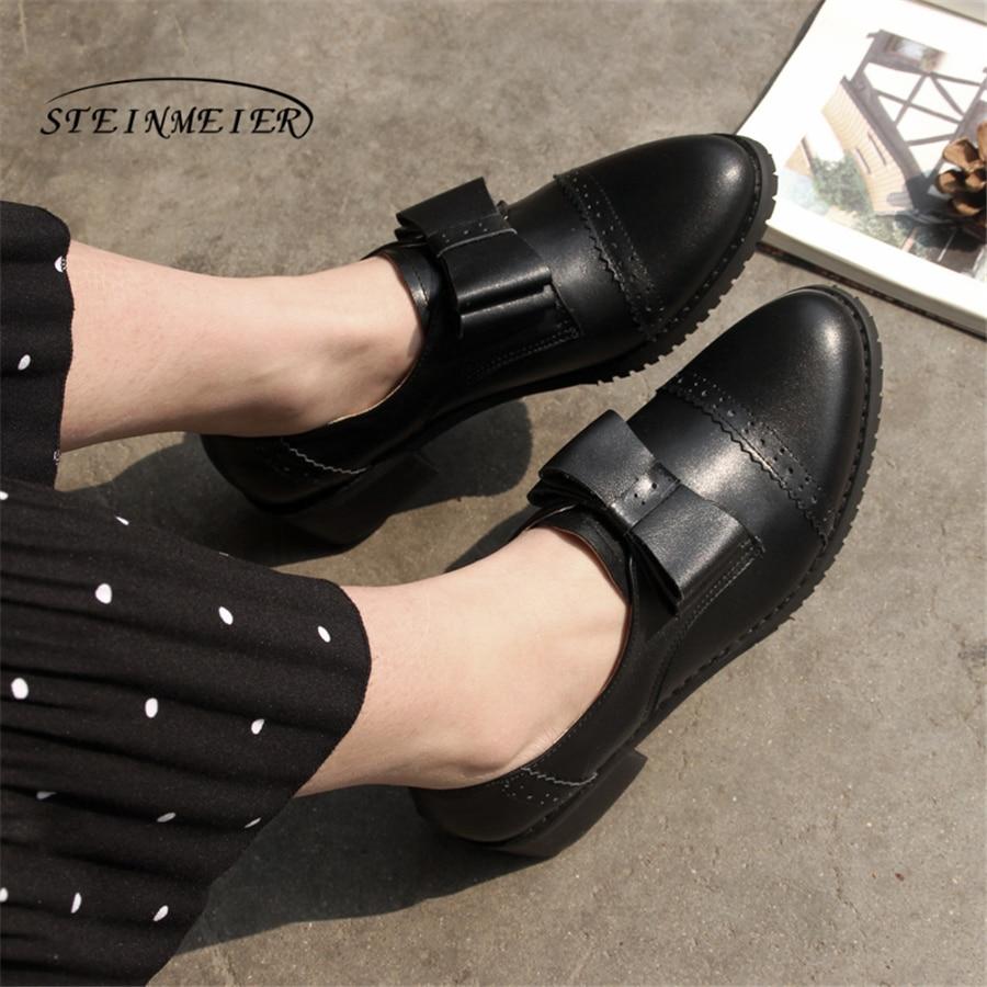 여성 정품 가죽 플랫 옥스포드 신발 디자이너 빈티지 수제 핑크 블랙 꽃 옥스포드 신발 여성을위한-에서여성용 플랫부터 신발 의  그룹 1
