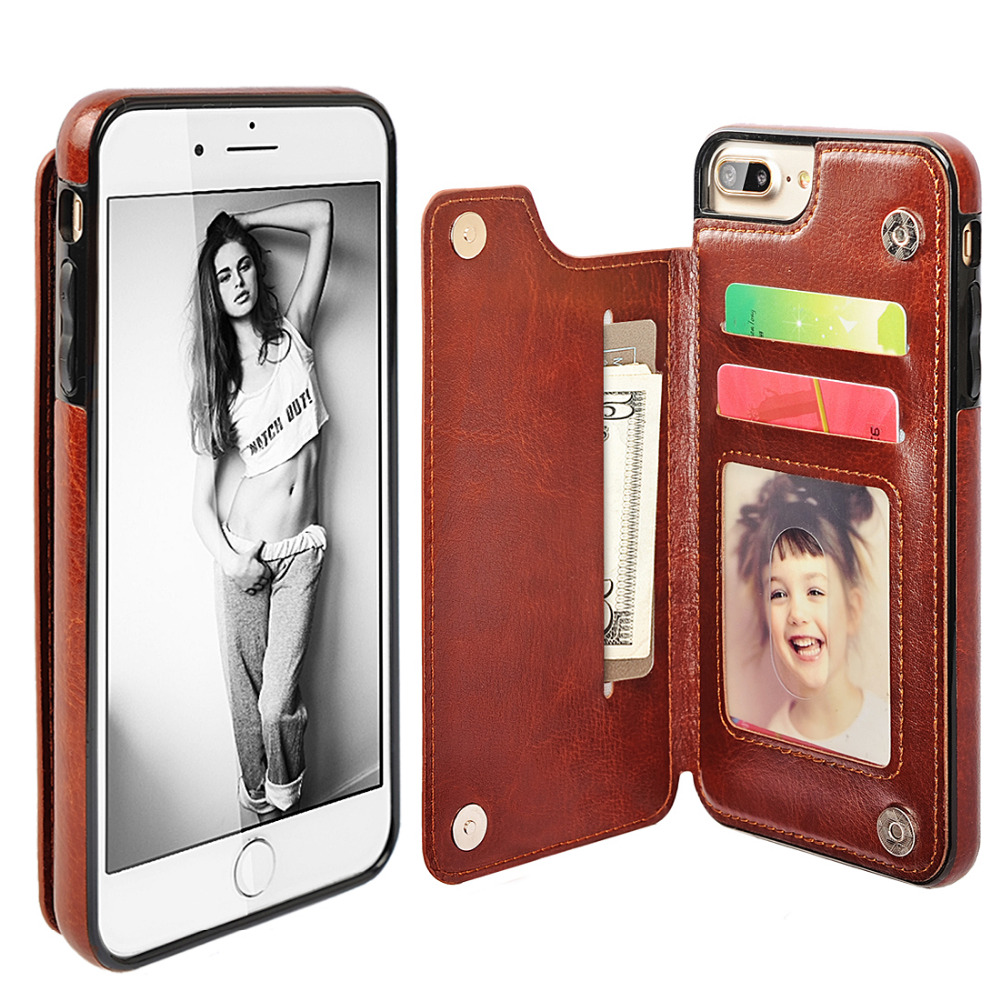 For-iPhone-6-Case-Luxury-PU-Leather-Card-Slot-Holder-TPU-Silicone-Back-Cover-Case-For