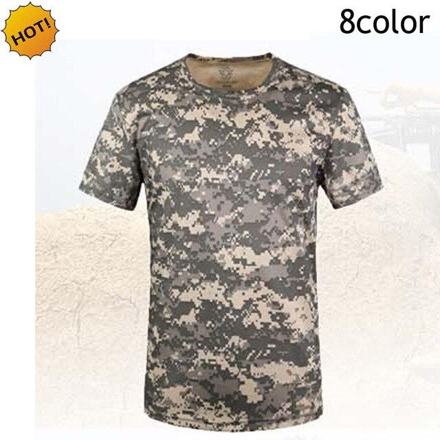 Haute qualité 2018 d'été python rayures Jungle déserts Camouflage respirant à séchage rapide maillot manches courtes t-shirts t-shirts