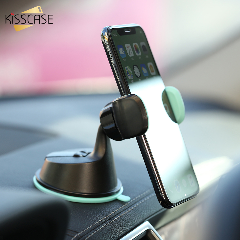 Kisscase Car Holder For Huawei P Smart 2019 Y6 2018 Car Phone Holder For Xiaomi 8 Se 360 Adjustable Car Stand S9 J5 2017 J7 J6 To Make One Feel At Ease And Energetic