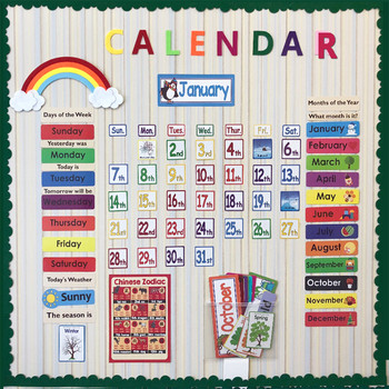 148 unids/set fecha mes de vacaciones tiempo de calendario de pared Solar a tiempo de gestión de niños aprender inglés tarjetas para los niños bts exo