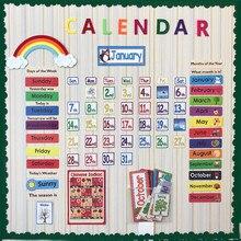 148 шт./компл. Дата месяц праздник календари время стены Солнечный срок погода управление дети выучить английский карты для детей bts exo