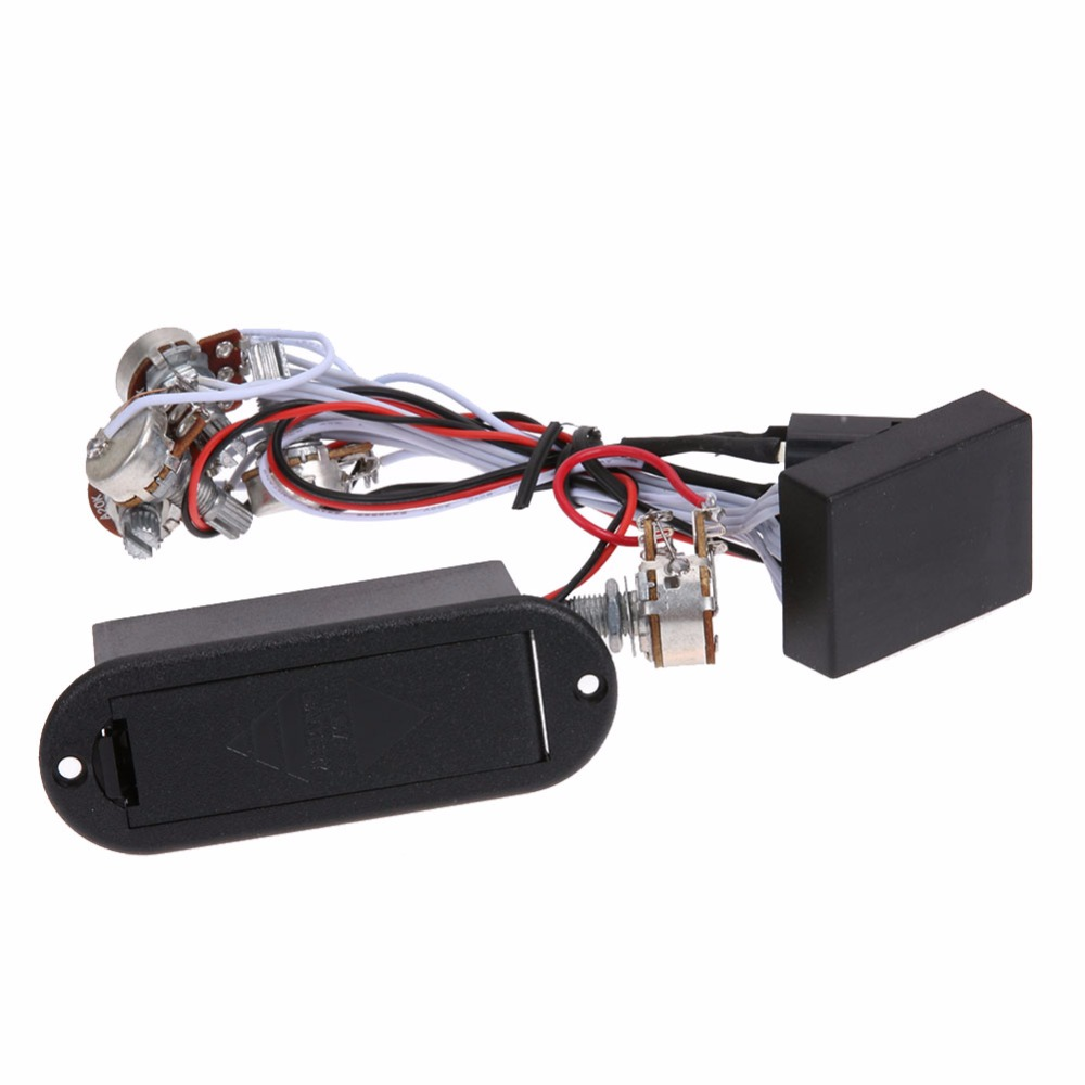 Hot Sale 3 Band EQ Preamp Circuit For Bass Pickup Active 1 Set 9V Power Supply Musical Stringed Instruments Parts & Accessories belcat bass pickup 5 string humbucker double coil pickup guitar parts accessories black
