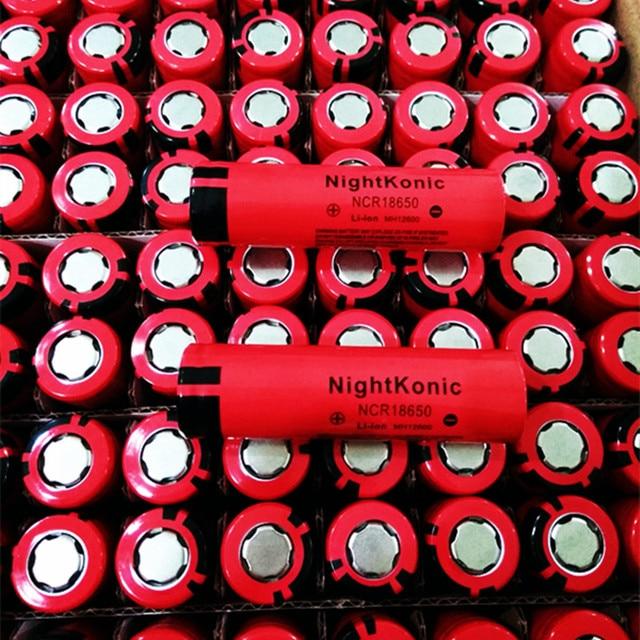 Original Nightkonic 2 unids/lote 18650 batería recargable de 2000 mAh de la batería de 3,7 V Li-Ion rojo