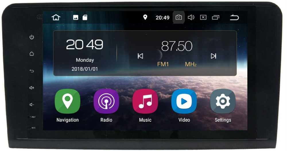2Din 9 インチのアンドロイド 9.0 PX30 車なし Dvd プレーヤーベンツ GL ML クラス W164 ML350 ML500 X164 GL320 4 グラム RAM 4 3GWIFI GPS ラジオ