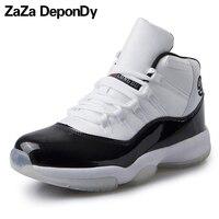 Ücretsiz Kargo 2017 Mens Ürdün Basketbol Ayakkabıları Yüksek Top Sneakers kadınlar Erkekler Için Hava Basketbol Ayakkabıları Sönümleme 11 Artı Boyutu 36-45