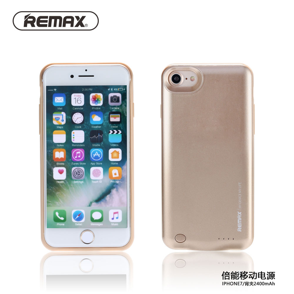 Remax 2400mAh Power Case For iPhone7 Power Charge Case External Backup Battery Power Bank Cover