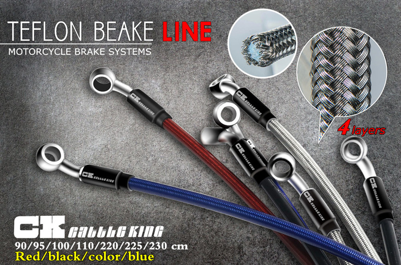 Image 5 - Motorcycle Dirt Bike Braided Steel Hydraulic Reinforce Brake line Clutch Oil Hose Tube 950/1100/2200/2300mm Universal Fit Racing-in Levers, Ropes & Cables from Automobiles & Motorcycles