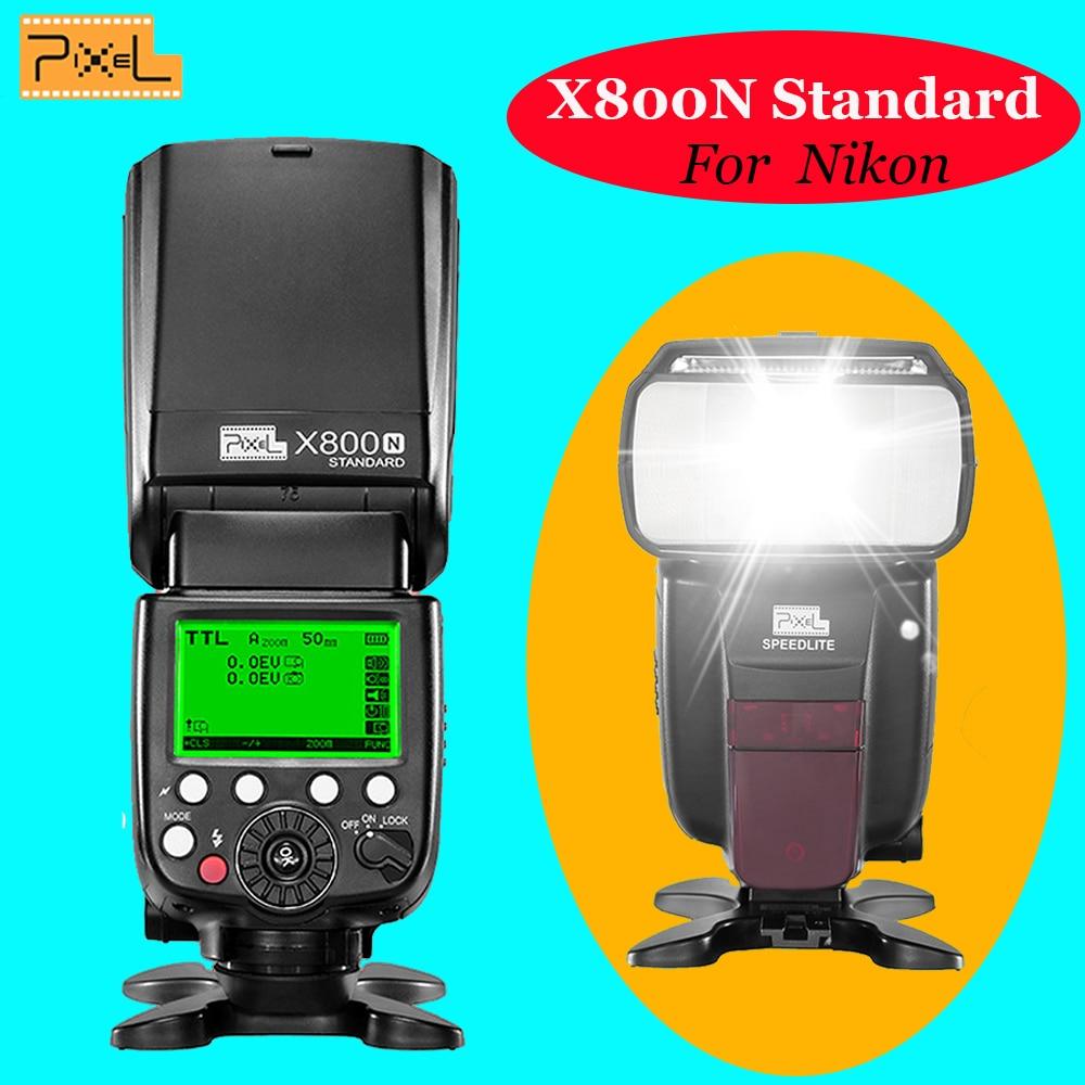 Pixel X800N Standard Wireless ITTL High Speed Sync Flash Speedlite VS Yongnuo Yn565ex Yn685 Yn-565ex Yn568ex Tr-586ex For Nikon yongnuo yn685 n wireless 2 4g hss ttl ittl speedlite flash for nikon cameras support yn560iv yn560 tx or pixel d17 battery grip
