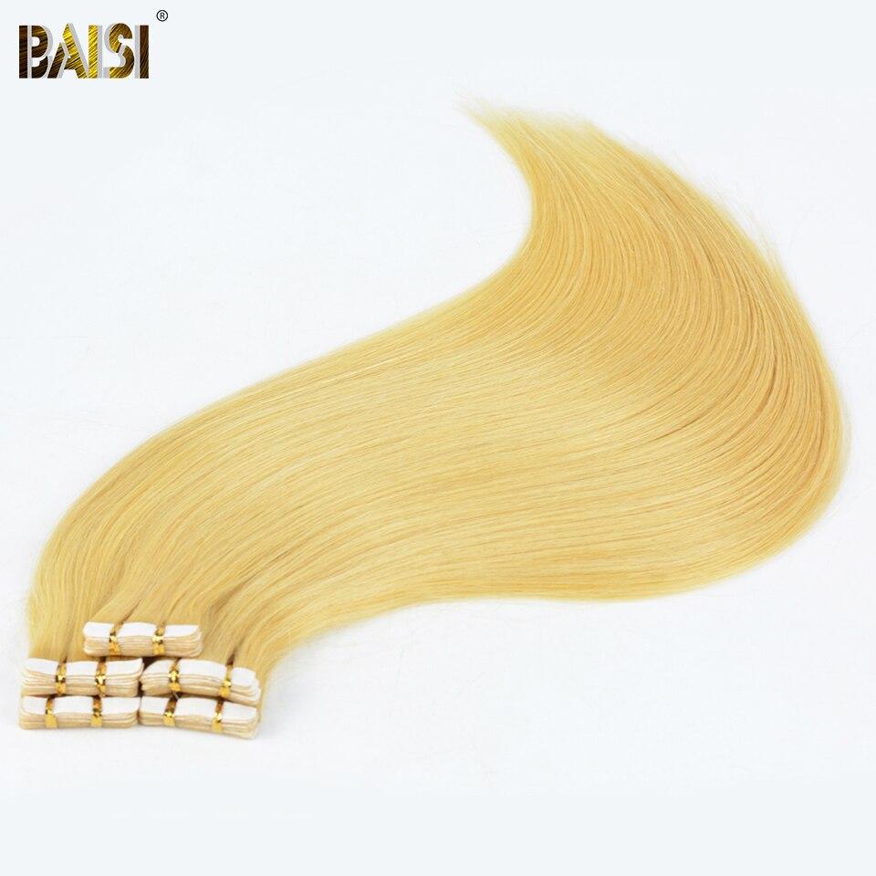 Suche Nach FlüGen Baisi Band Haar, 2g/strand, 20 Teile/satz, Seidig European Blonde Gerade Haar, Remy Band Haut Haareinschlagfaden, Freies Verschiffen