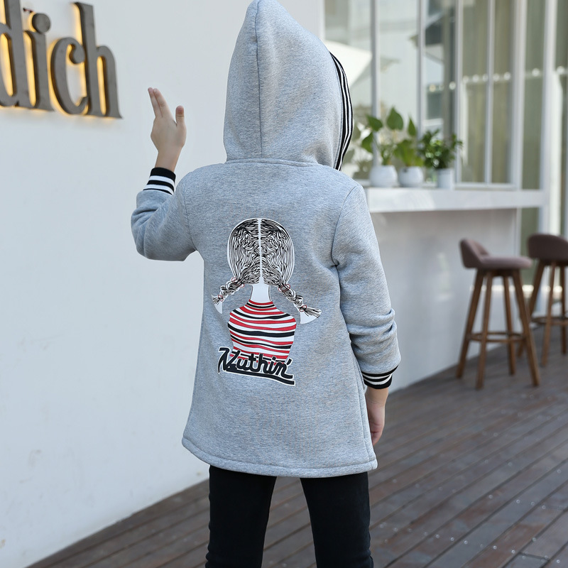 character hooded thick hoodies girls winter jackets kids sports clothes children outerwear coats and jackets clothing for girl