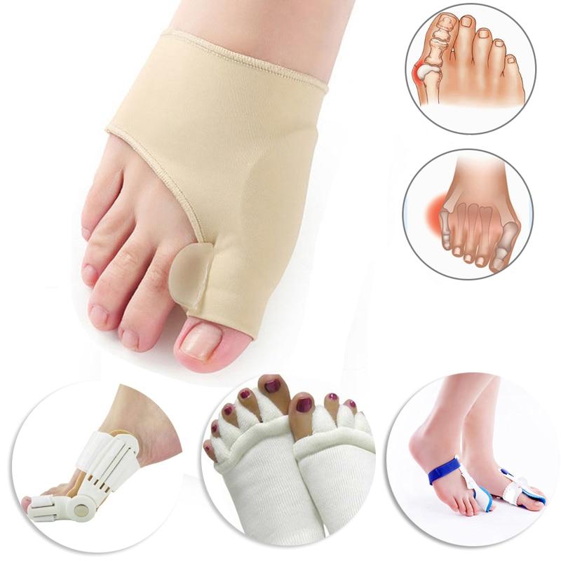 Hallux вальгусной бурьон корректор ортопедический инструменты для ног Bone Thumb Настройщик Brace педикюр носки для девочек ног разделители носилки