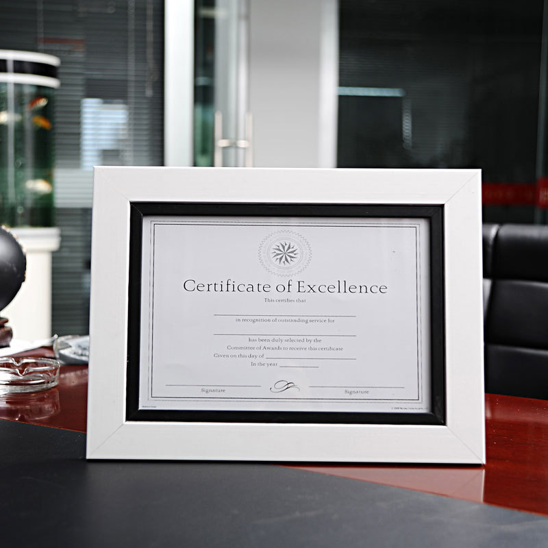 High Quality PE Material A4 12inch Certificate Frame Black and White ...