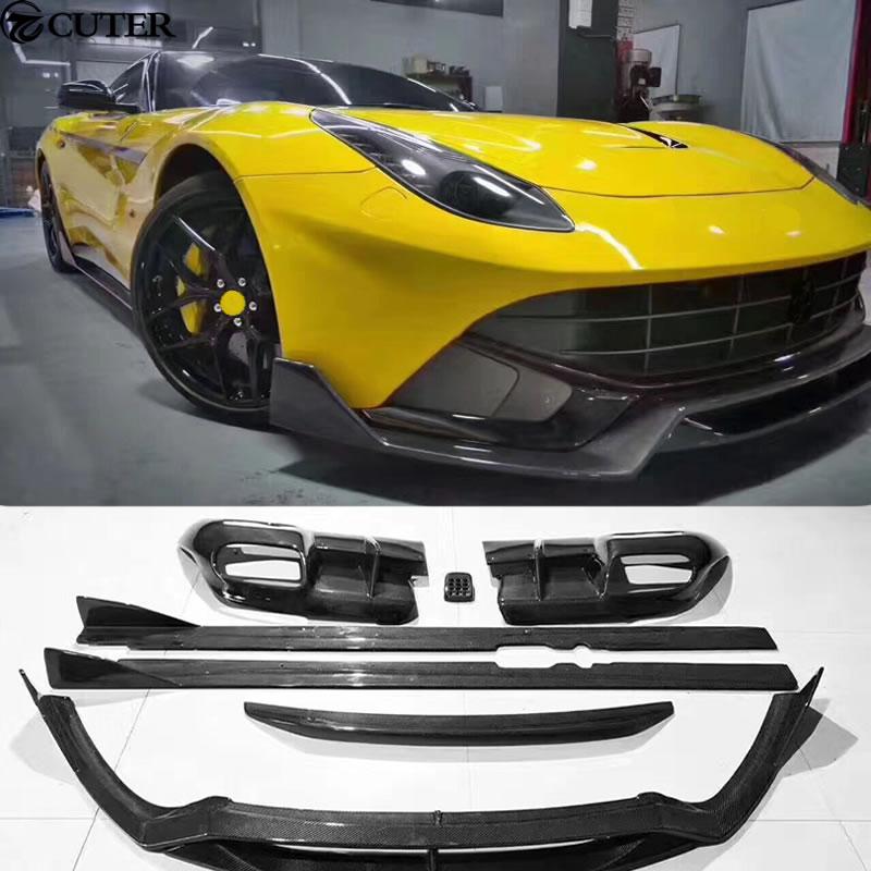 F12 DMC Style Car Body Kit Carbon Fiber Front Lip Rear