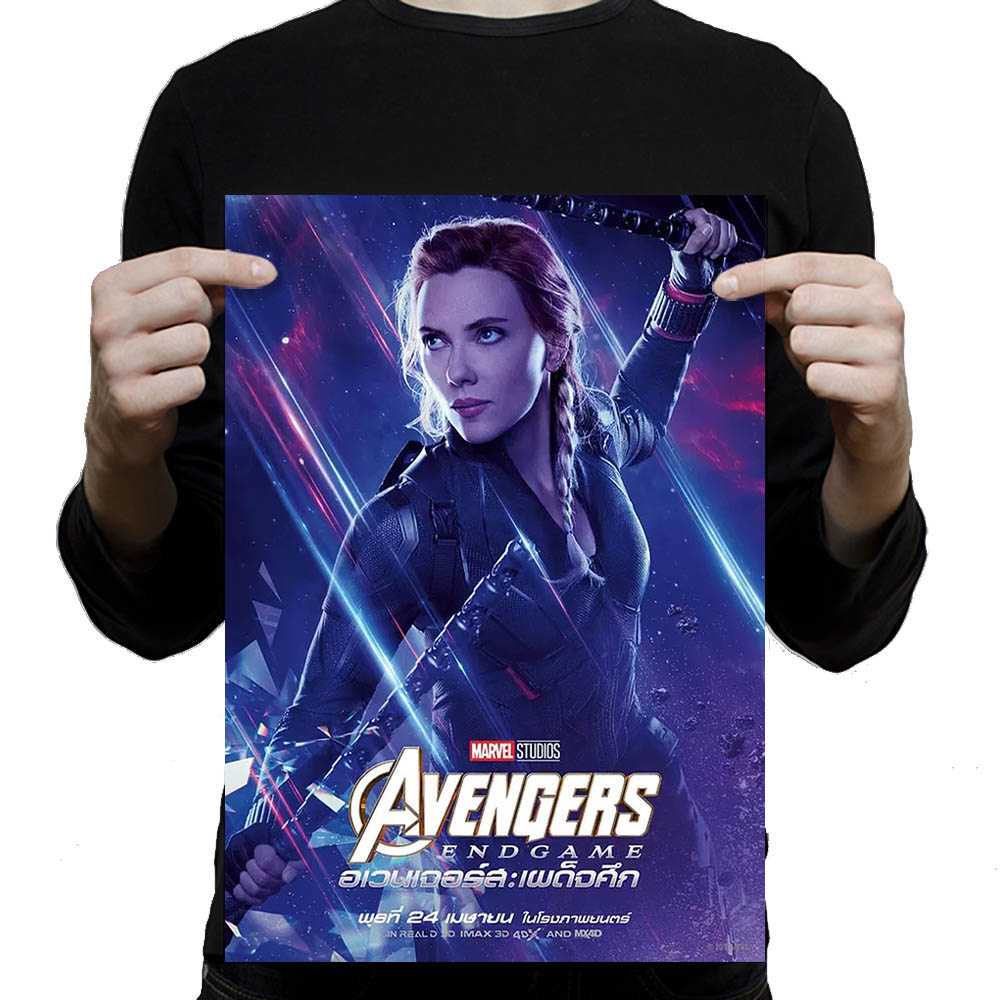 Avengers Endgame Character Movie posters wall sticker White Art Paper poster 42X30cm in Wall Stickers from Home Garden
