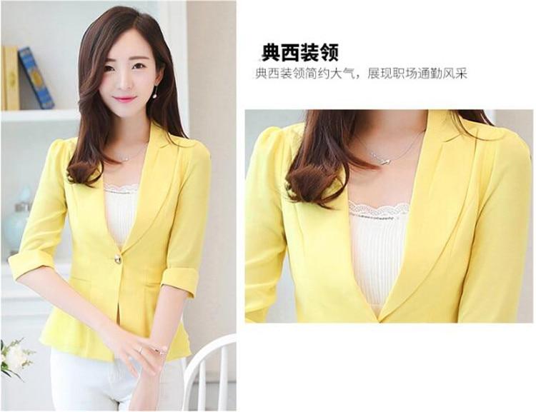 Blazers Suits & Sets Elegant Female Summer Thin Suits Plus Size 3xl 4xl 4xl Women Office Blazer Blue Orange Slim Fit Breathable Blazer For Work Ma088 Latest Fashion