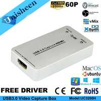 USB3.0 60FPS HDMI to USB3.0 VIDEO CAPTURE FPGA Dongle Game Streaming Live Stream Broadcast 1080P OBS/vMix/Wirecast/Xsplit