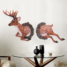 Through The Wall Simulated Deer Wall decoration Hanging Wall Animal Head Resin Pendant Resin Wall Ornaments