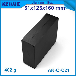 Image 4 - 1 piece aluminum instrument case for electronic project box in black with brushed 51*125*160mm