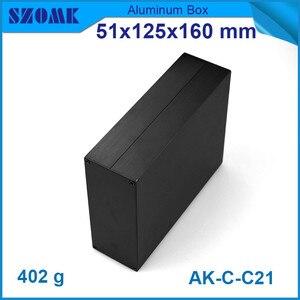 "Image 4 - 1 piece מקרה מכשיר אלומיניום תיבת פרויקט אלקטרוני בשחור עם מוברש 51*125*160 מ""מ"
