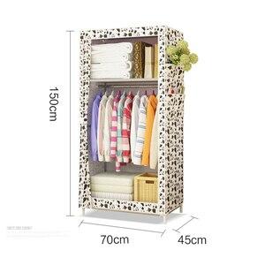 Image 5 - ตู้เสื้อผ้าแบบเรียบง่ายนักเรียนหอพักเดี่ยวตู้เสื้อผ้าตู้เสื้อผ้า Finishing ตู้เก็บเหล็กตู้เสื้อผ้า