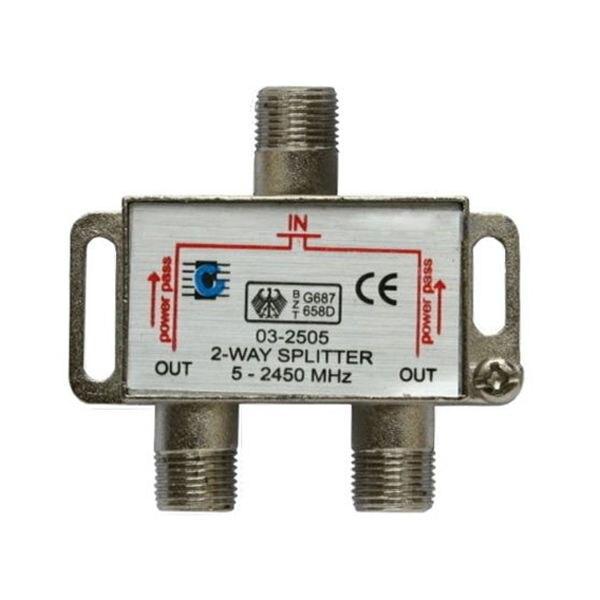 2-way splitter 5-2450MHz Outputs Antenna DTV TV SAT Direction Splitter