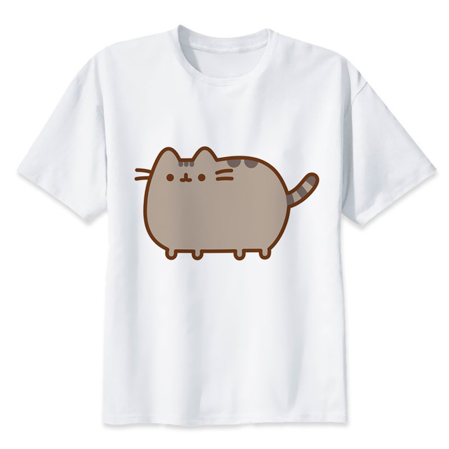 4d68645c Pusheen 2018 Summer graphic Brand Clothes Tee plus size Fit Short Sleeve T  Shirt women Cotton Casual womens T Shirts T2744