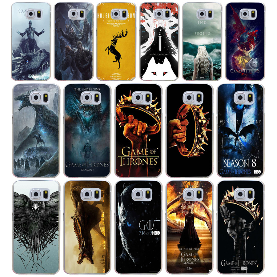 save off 782ff 235e8 US $1.12 14% OFF|98DD Game of Thrones Season 7 Gots7 Hard Transparent Cover  Case for Samsung Galaxy S4 S5 Mini S6 S6 S8 S9 edge plus S7 Edge-in ...