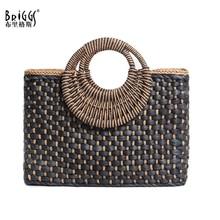New 2019 Summer Handmade Straw Bags Women Handbag Weaving Beach Straw Bag Ladies Beach Hand Bag Females Tote все цены
