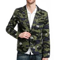 Luxury Men Brand Clothing Bomber Jacket Mens Casual Military Camouflage Slim Fit One Button Suit Jacket