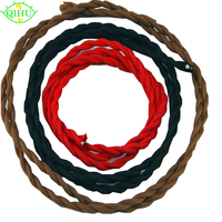 10 Meters 2 Wire Vintage Black RED Brown Color 0 75mm 2 Twisted Wire Twisted Cable