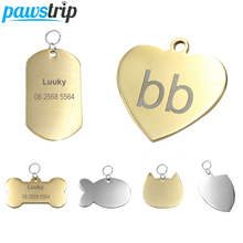 pawstrip Anti-lost Dog ID Tag Customized Dog Tag For Dogs Phone Name Cat Tag Pet ID Tags Custom Engraved Dog Collars Pendant flowgogo anti lost stainless steel dog id tag engraved pet cat puppy dog collar accessories telephone name tags pet id tags