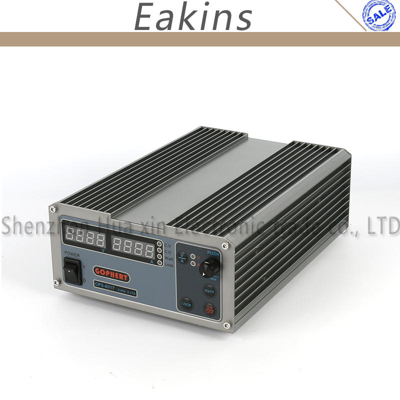 New upgrade Compact Digital Adjustable DC Power Supply OVP/OCP/OTP MCU Active PFC 60V17A 170V-264V + EU + Cable cps 6003 60v 3a dc high precision compact digital adjustable switching power supply ovp ocp otp low power 110v 220v