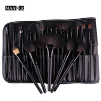 High Quality Makeup Brushes Set 24Pcs Cosmetics Beauty Foundation Powder Brush Set Pincel Maquiagem Kits Leather
