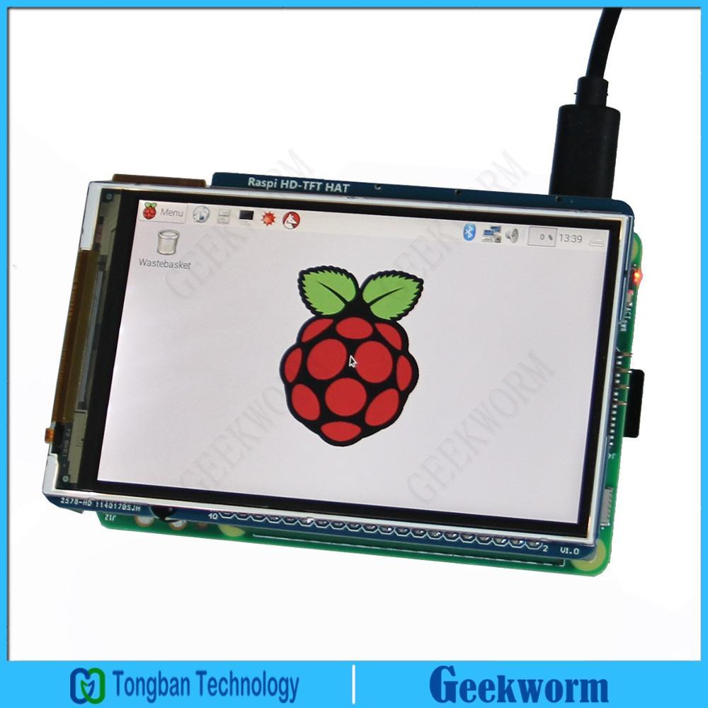 US $35 99 10% OFF 60+ Fps 3 5 inch Raspberry Pi 3 High Speed Display/Screen  /TFT LCD w/ IR /800x480 HD Screen Module for Raspberry Pi 3 Model B/2B-in