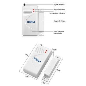 Image 5 - KERUI 10pcs/lot Wireless Door Window Sensor 433MHz Security Smart Gap Sensor Door Alarm Detector for Home Security Alarm System