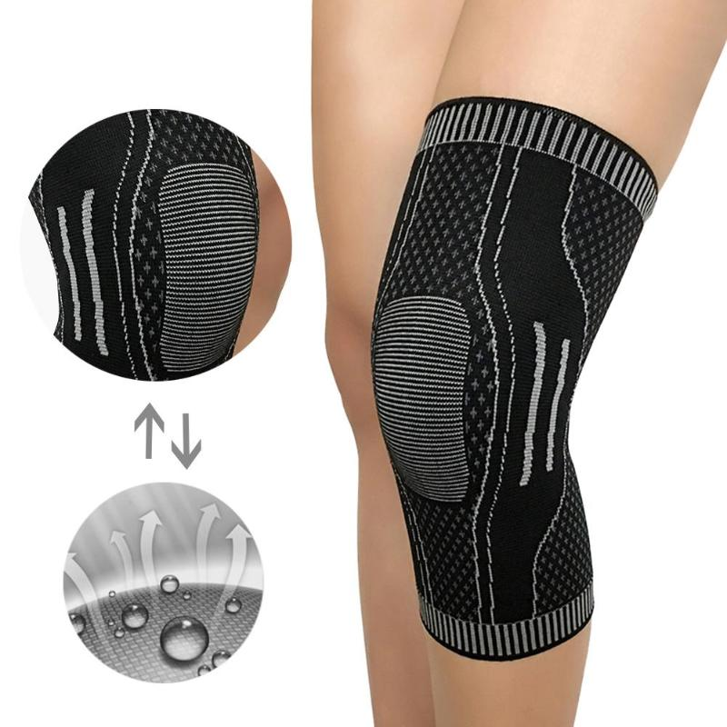 Fitness Sports Knee Support Braces Elastic Nylon Sport Knee Pad Sleeve for Basketball Volleyball Running Cycling