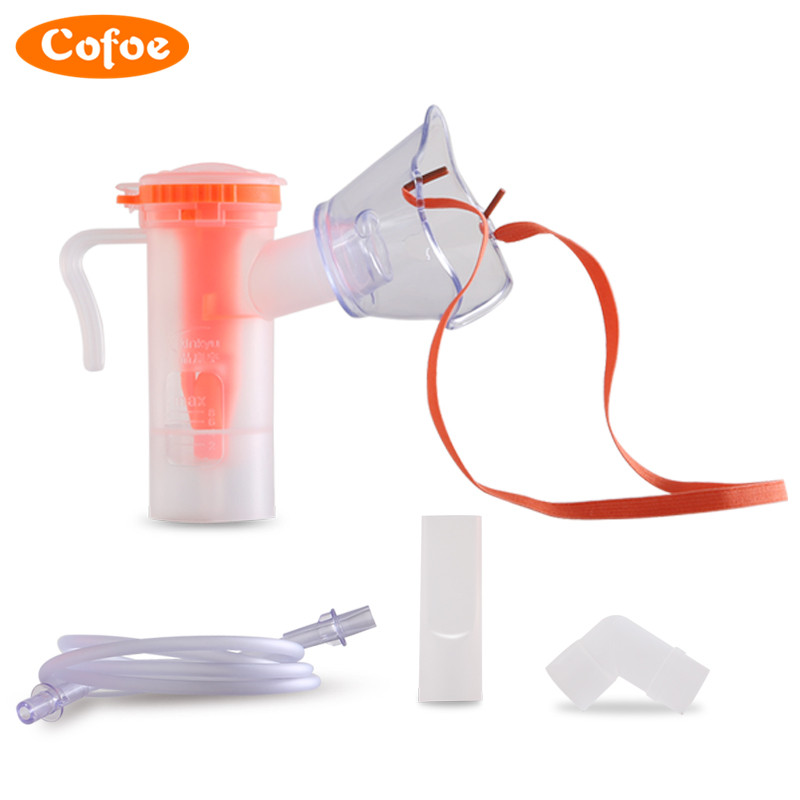 Cofoe Children Adult Household Disposable Atomizer Mask Containing Atomizing Cup Connecting pipe Nebulizer Inhaler Adjustable cofoe hot sale medical home health care portable inhaler mini dolphins children adult nebulizer