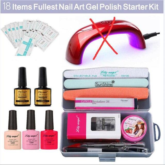 Lilyangel Super FreeShipping 18 Items Nail Art Gel Polish Starter ...