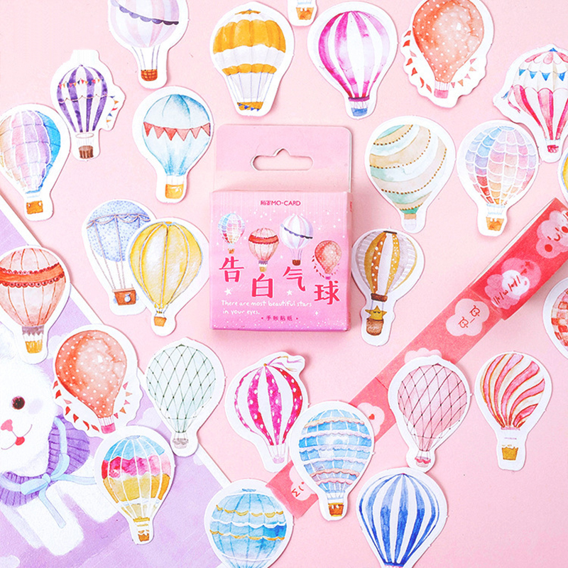 46 Pcs Confession Balloon Stickers Set Decorative Stationery Stickers Scrapbooking DIY Diary Album Stick Lable