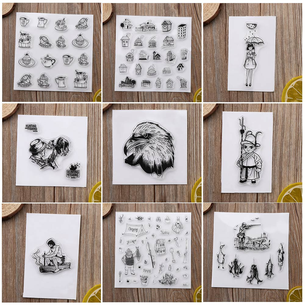 Cute New Transparent Clear Rubber Stamp Silicone Scrapbooking Photo Album Decorative Stamp Sheet DIY Crafts