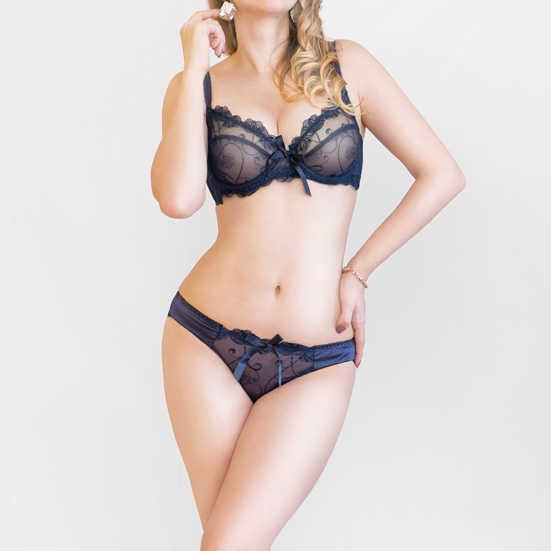wholesale ABCD France brand lace   bra   &   brief     sets   push up   bra     set   for women underwear   set   brassiere transparent lingerie